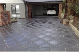 Driveways Paving Melbourne Grey Diamond Concrete Tiles