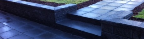 slate grey entrance path pathway driveway landscaping