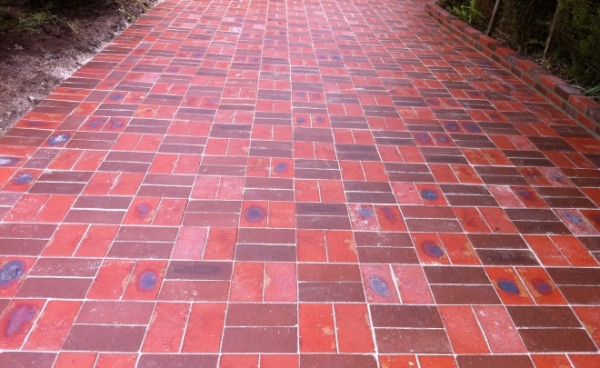 Bricklaying Paving block red brick