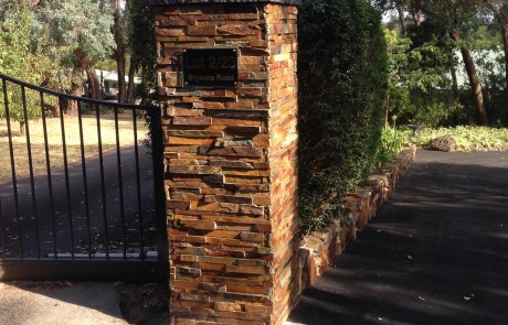 Brick fancy column fence gate entrance elegant