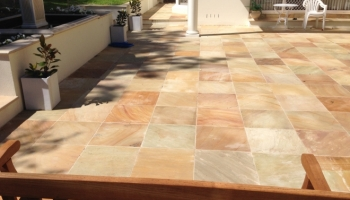 paving stone square landscaping garden makeover patios