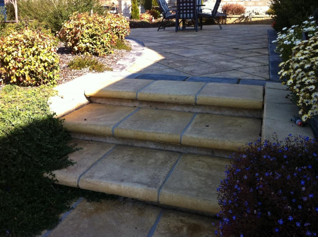 landscaping steps concrete tiles sandstone square grey
