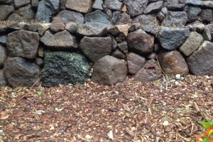 stone wall rustic retaining