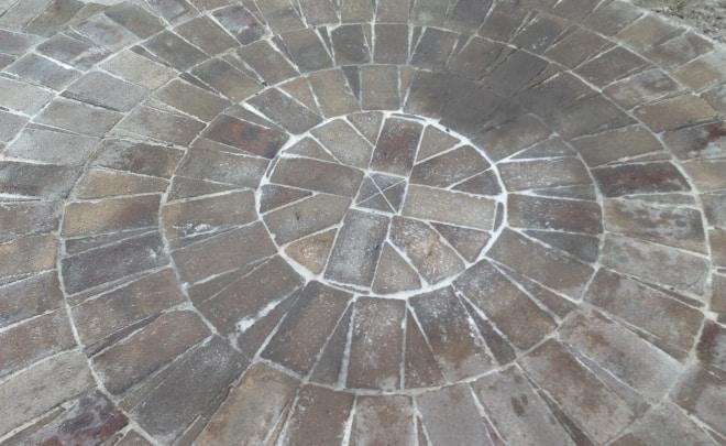 Bricklaying Paving Circular concentric