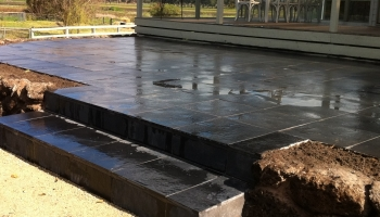 slate tiles paving patios steps grey landscaping stone wall