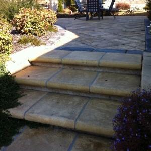 landscaping steps concrete tiles sandstone square grey