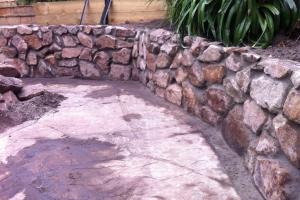 brick wall landscaping stone wall