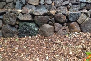 stone wall rustic retaining