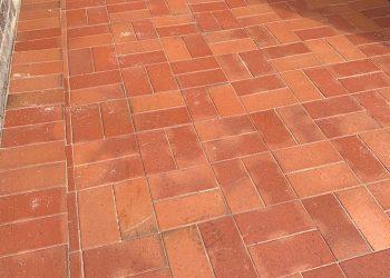 red brick paver