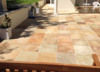 paving stone square landscaping garden makeover patio