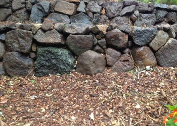 stone wall rustic